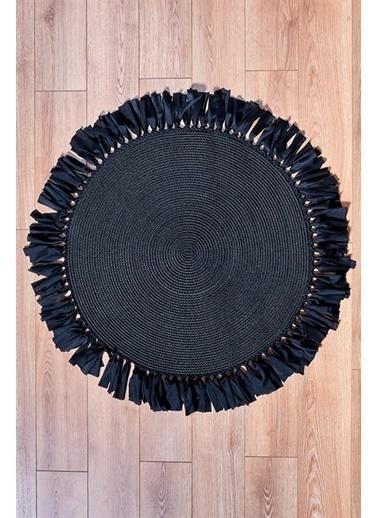 MarkaEv Nomad Jüt Halı 28 Siyah 150*150cm Siyah